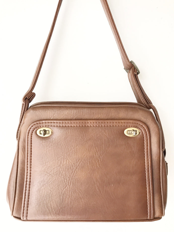 Vintage brown satchel bag