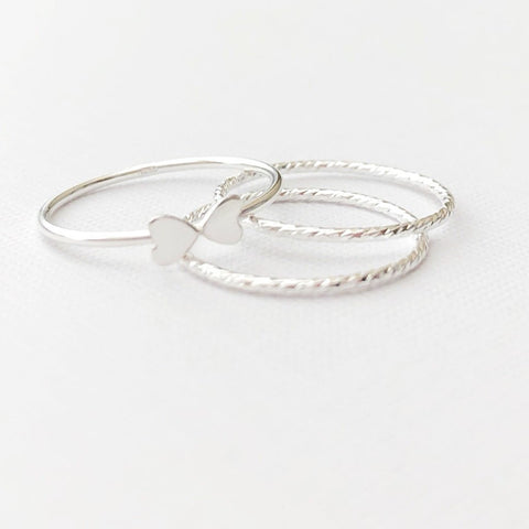 The Emily Stacking Rings (Set of 3)