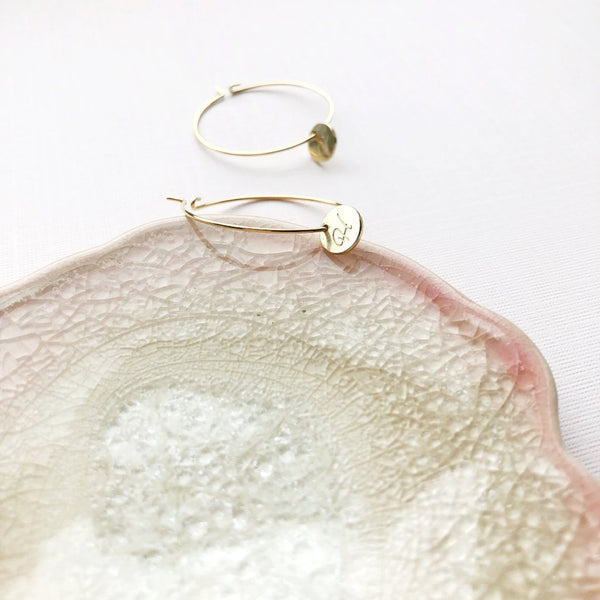 The Serena Initial Hoop Earrings