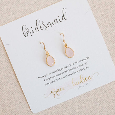 Bridesmaid or Flower Girl Gift Set -- Earrings