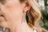 The Naomi Earrings - Howlite or Turquoise