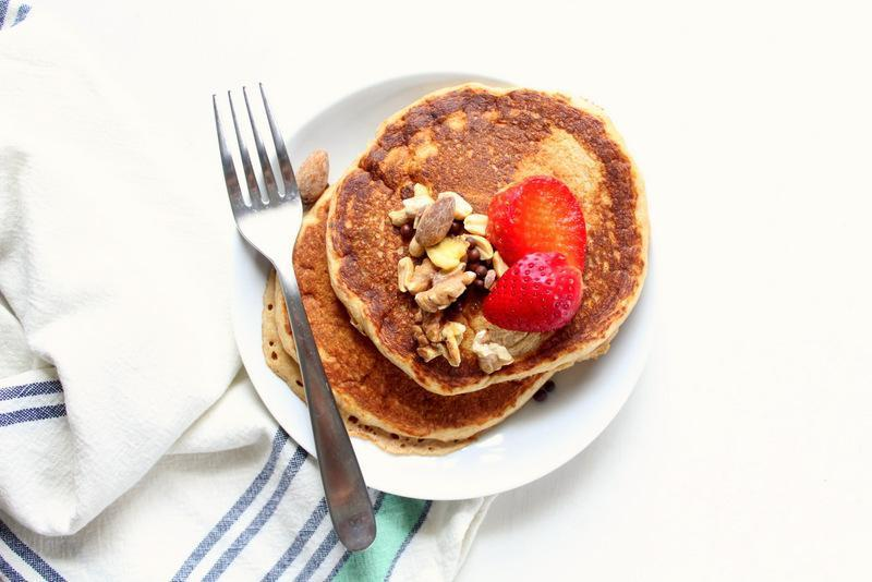 Low FODMAP Pancakes with Crunchy Nut Topping