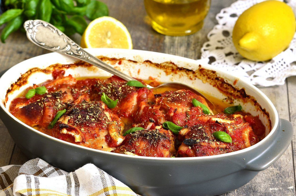 Low FODMAP Braised Chicken in Tomato Sauce