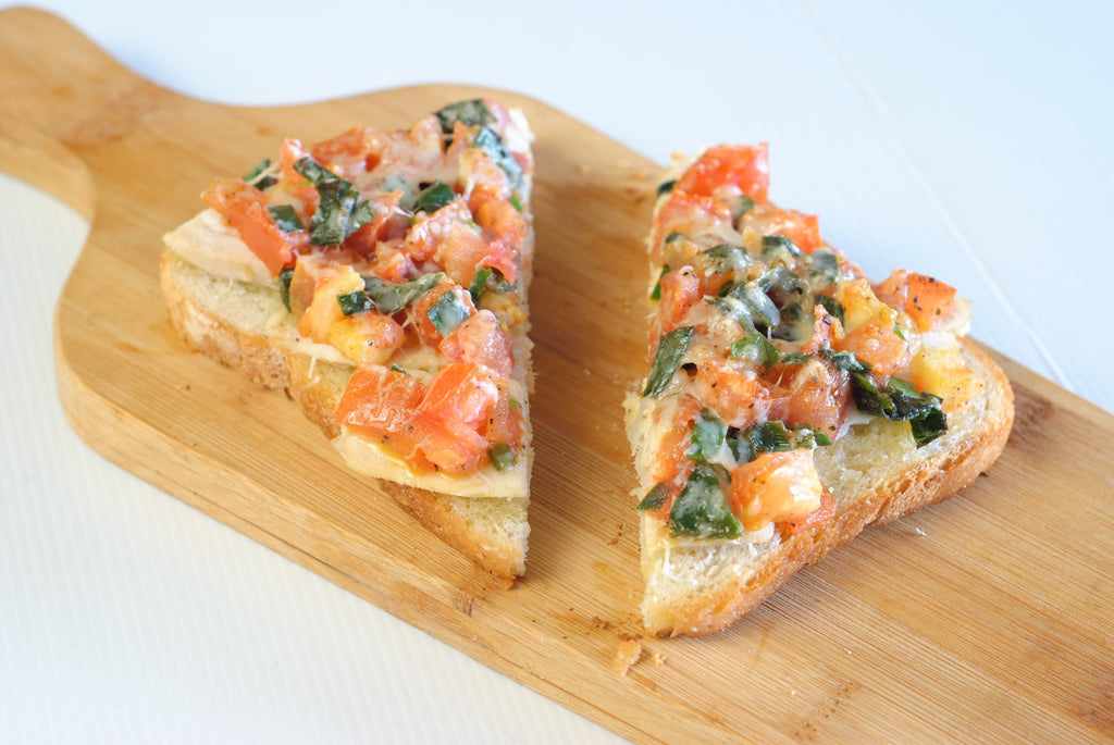 Low FODMAP Bruschetta Recipe - Tomato, Leek & Turkey
