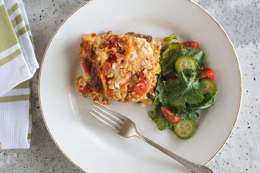 Spring & Summer Roasted Vegetable Low FODMAP Lasagna