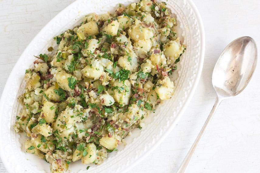 Low FODMAP Potato Salad Recipe with Bacon