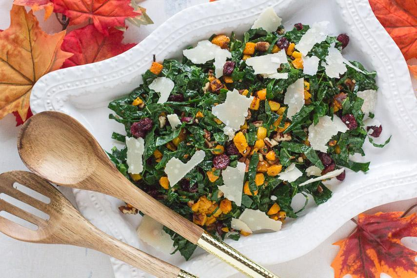Low FODMAP Salad with Roasted Squash & Kale