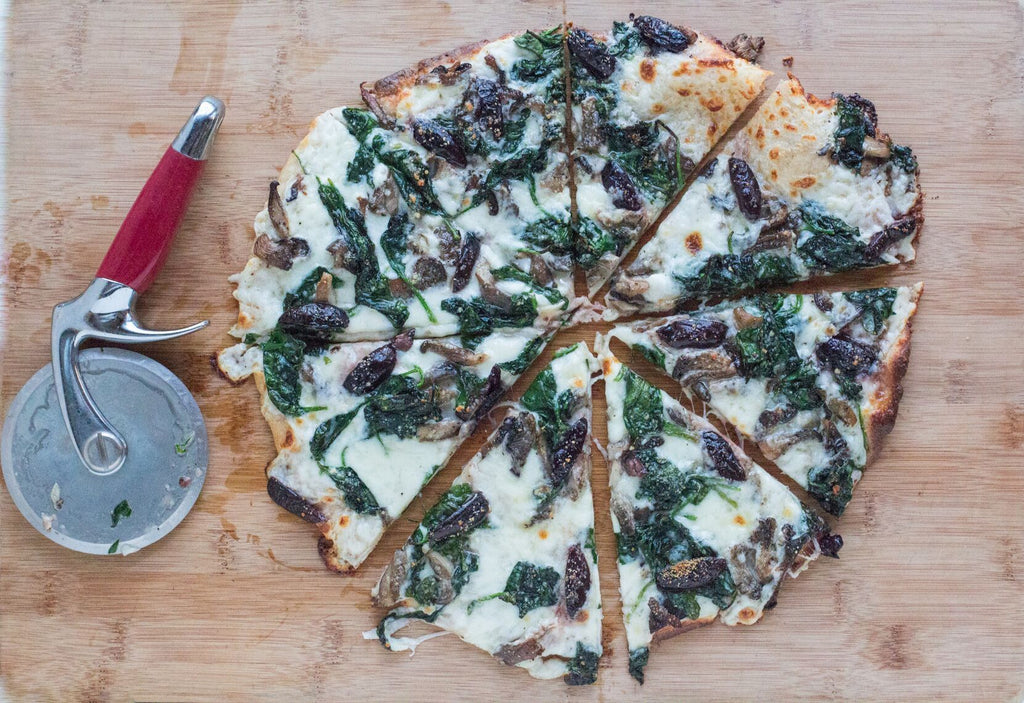 Fody's Spinach & Mushroom Low FODMAP White Pizza