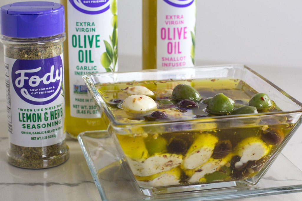 Marinated Low FODMAP Mozzarella & Olives