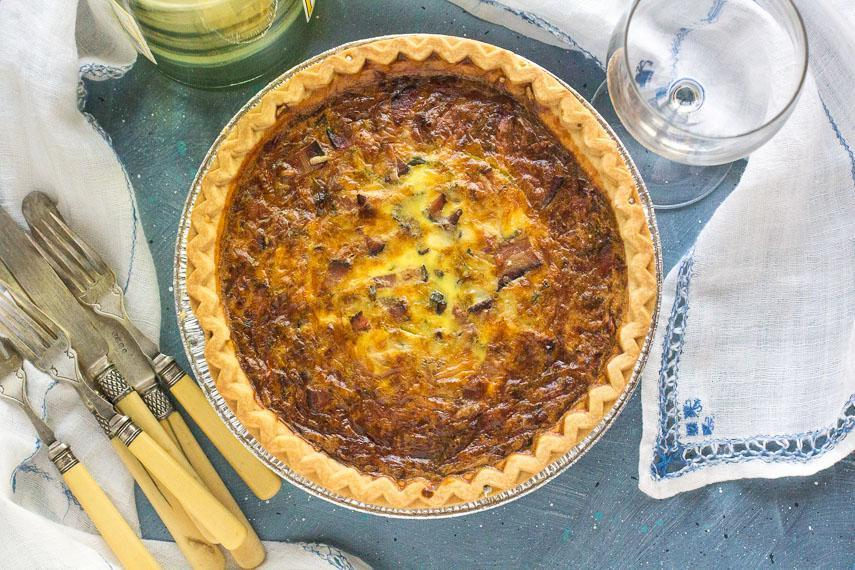 Low FODMAP Quiche with Bacon & Leeks