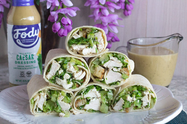 low-fodmap-chicken-caesar-salad-wrap