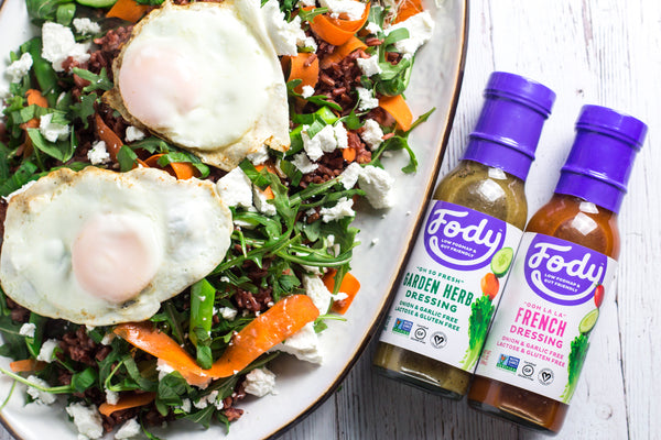Red Rice & Vegetable Low FODMAP Salad