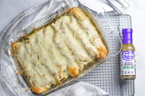 easy-green-chicken-enchiladas
