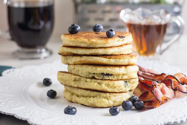 low-fodmap-blueberry-pancakes