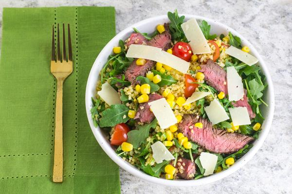 Steak and Millet Low FODMAP Grain Bowl