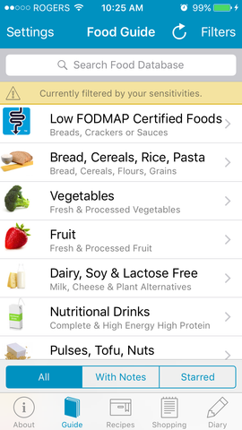 Food Guide Screen