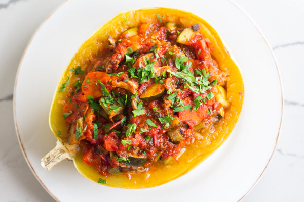 low-fodmap-stuffed-vegetable-spaghetti-squash