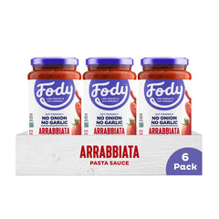 Low FODMAP <br><b><big>Arrabbiata Pasta Sauce </big></b><br>6-Pack <br><small>Onion, Garlic & Gluten Free</small>