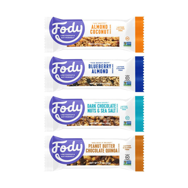 Low FODMAP Snacks<br><b><big>Sample Variety Snack Bar</big></b><br>4-Pack<br><small>Try 'Em All</small>