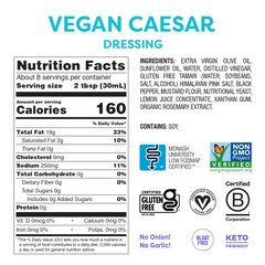 Low FODMAP <br><b><big>Caesar <br>Salad Dressing </big></b><br><small>No Onion, No Garlic, Vegan!</small>
