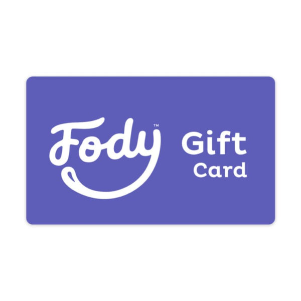 Give the gift of choice<br><b><big> FODY's Low FODMAP Foods Gift Card </big></b><br><small>$25, $50, $100 Variants</small>