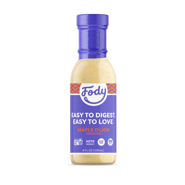 Low FODMAP <br><b><big>Maple Dijon <br>Salad Dressing </big></b><br><small>No Onion, No Garlic, Lactose & Gluten-Free!</small>