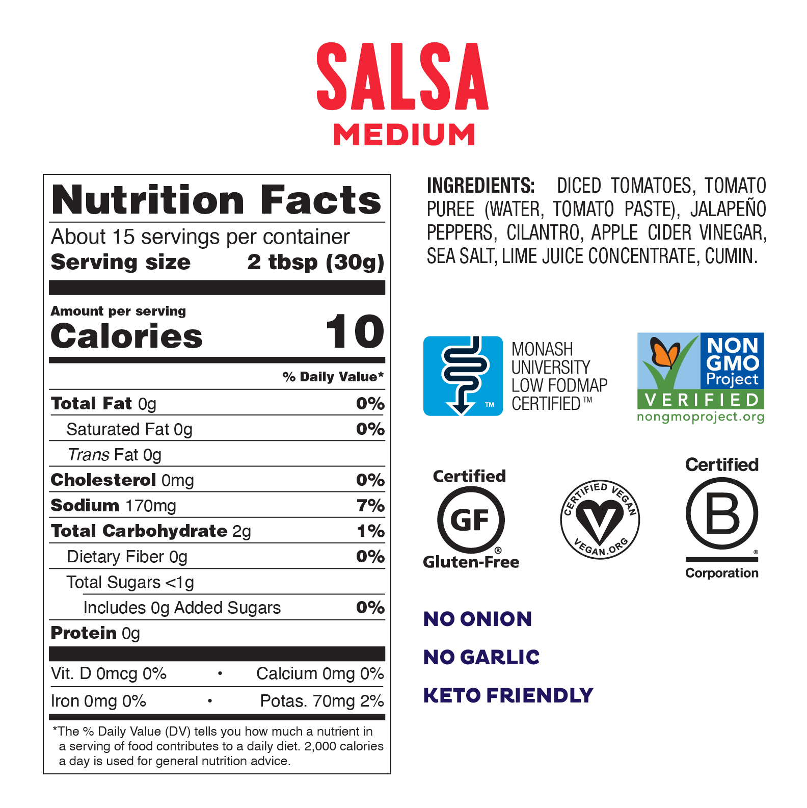 fody medium salsa ingredient label