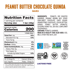 Low FODMAP <br><b><big>Peanut Butter <br>Chocolate Quinoa Bars </big></b><br>Box of 4<br><small>Lactose & Gluten Free</small>