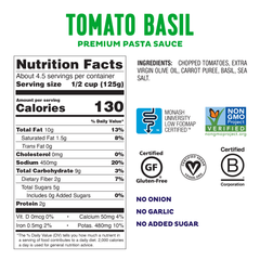 Low FODMAP <br><b><big>Pasta Sauce Variety Pack </big></b><br>6-Pack <br><small>No Onion, No Garlic & Gluten-Free!</small>