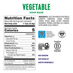 Low FODMAP <br><b><big>Vegetable Soup Base </big></b><br><small>No Onion, No Garlic & Gluten-Free!</small>