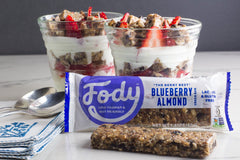 Low FODMAP <br><b><big>Blueberry Almond <br> Snack Bars </b></big><br>(Box of 12) <br><small>Lactose & Gluten Free</small>