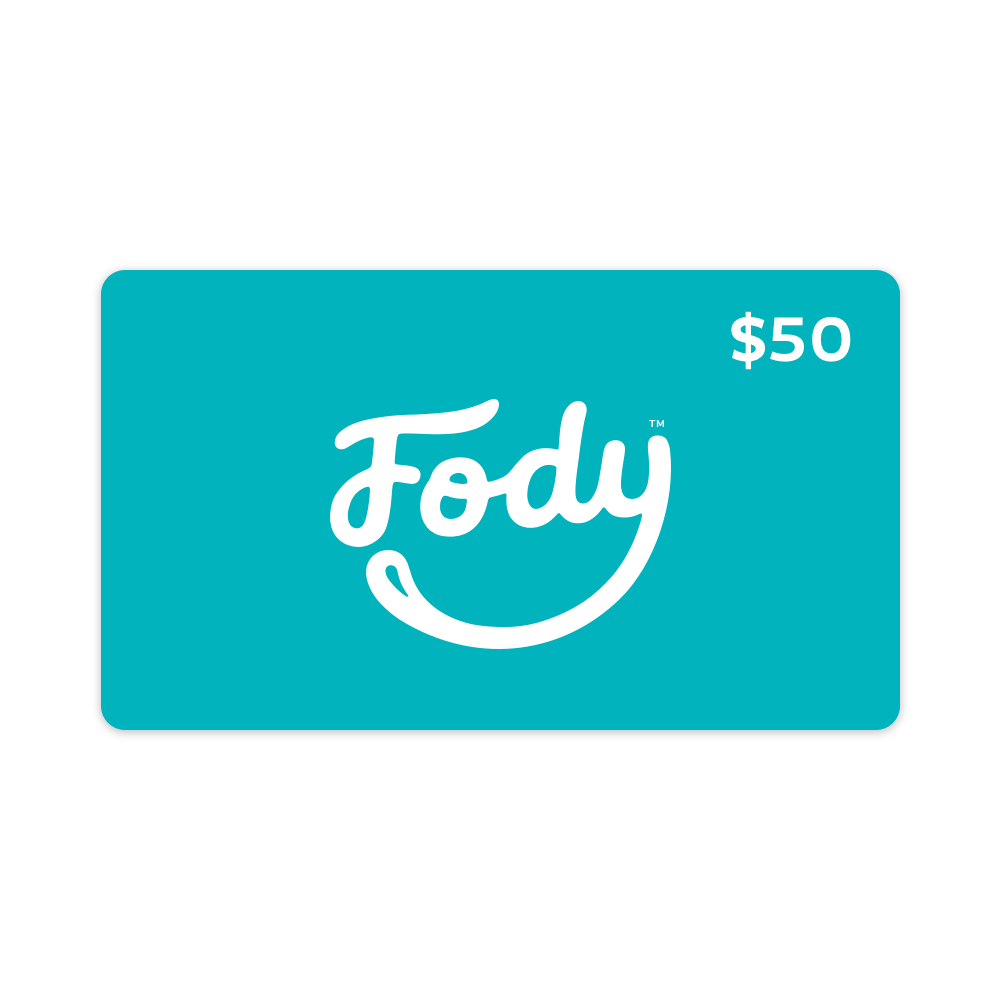Give the gift of choice <br><b><big>FODY's Low FODMAP Foods <br>Gift Card </big></b><br><small>$25, $50, $100 Variants</small>