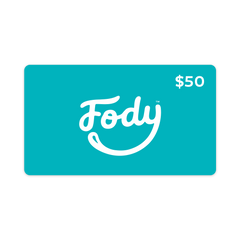 <b><big> FODY's Low FODMAP Foods Gift Card </big></b><br> Give the gift of choice <br><small>$25, $50, $100 Variants</small>