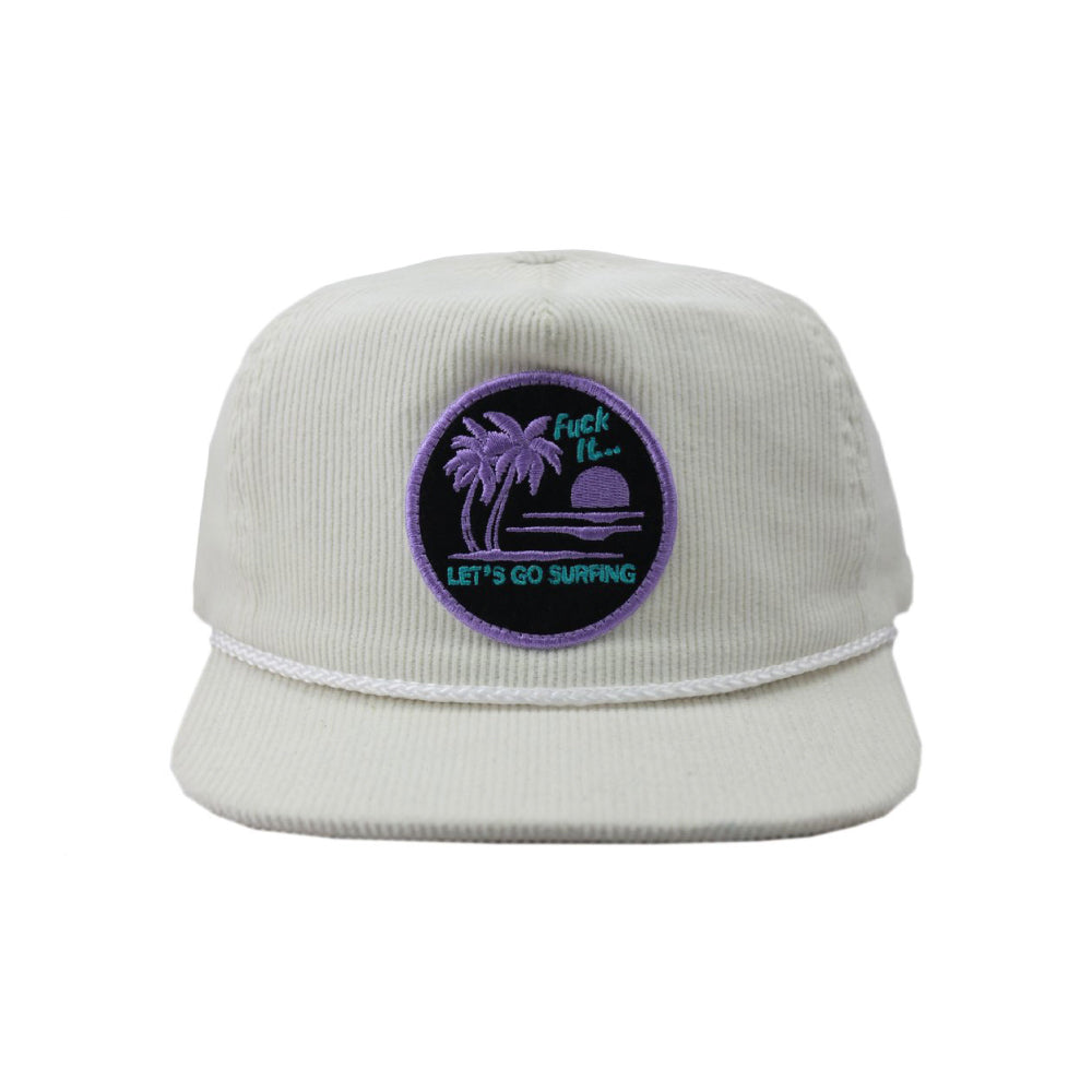 The Lobster Shanty Let's Go Surfing Snapback - White