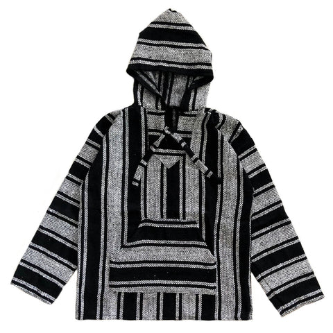 Men's Baja - Large White & Black Stripe