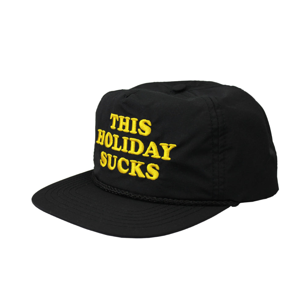 The Lobster Shanty This Holiday Sucks Snapback - Black.
