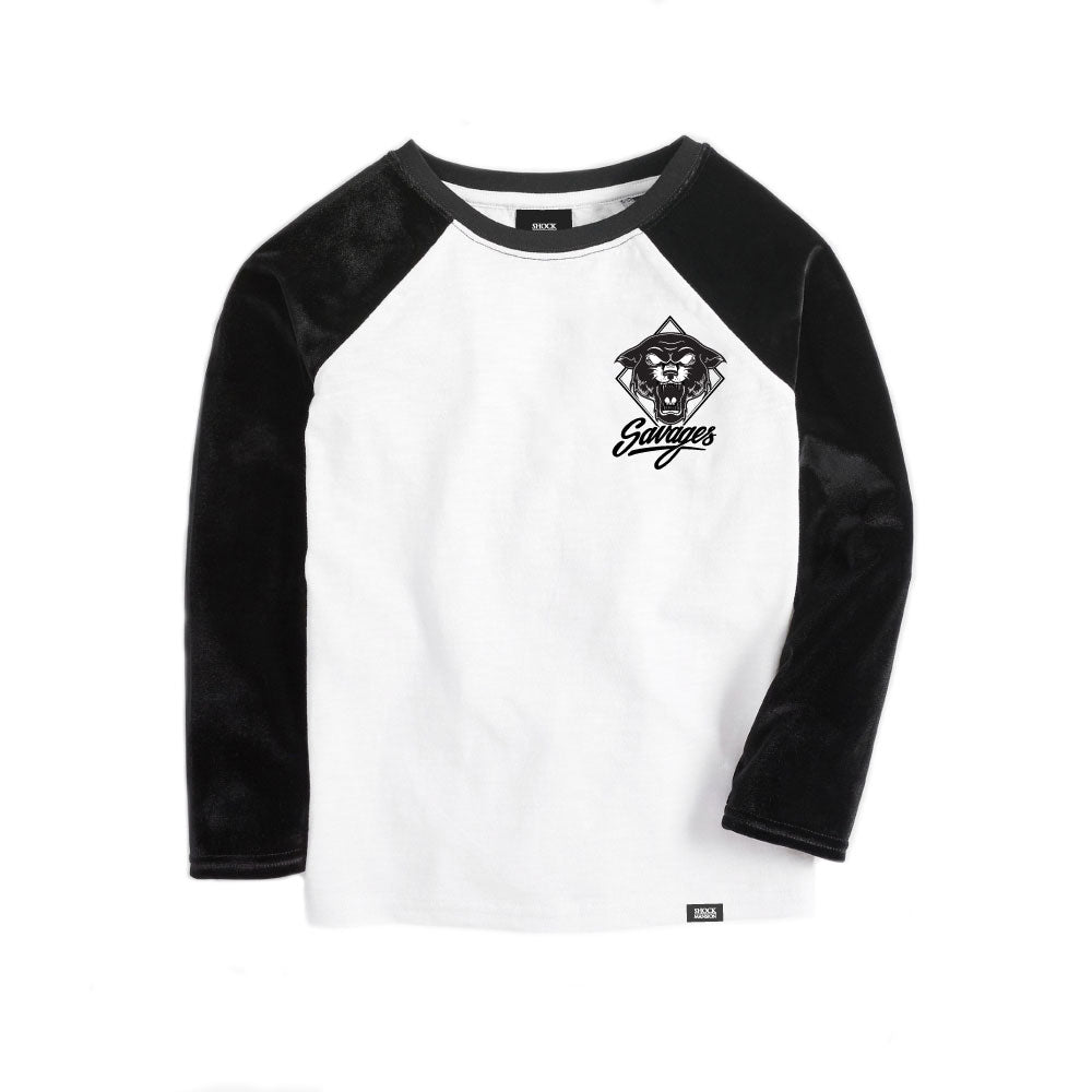 Kids Savages Long Sleeve Raglan