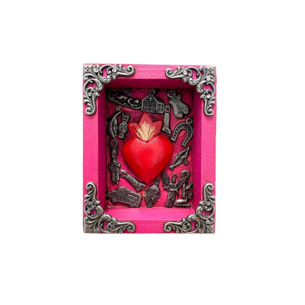 Milagro Wooden Box - Pink