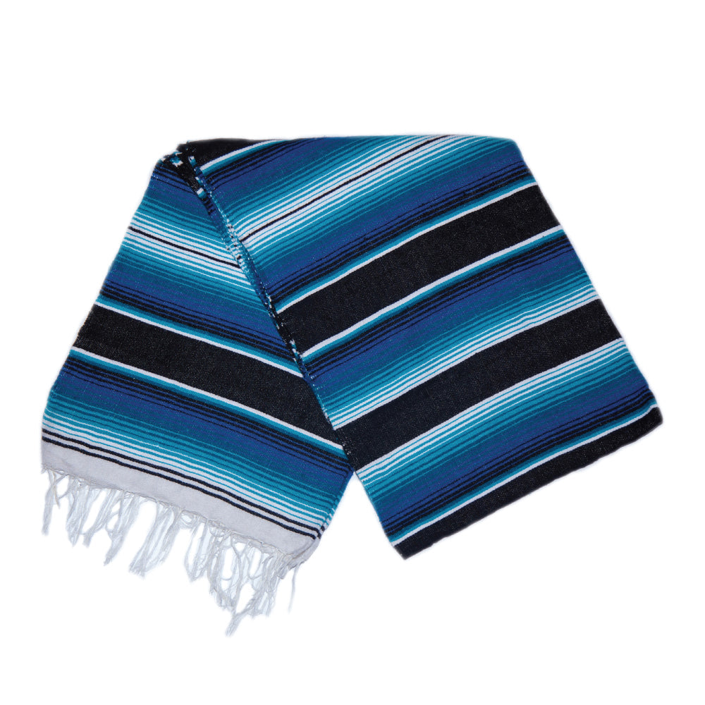Serape - Blue & Black