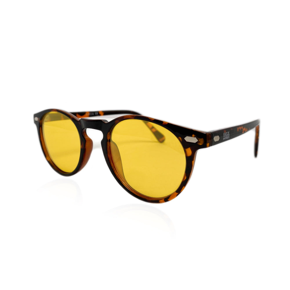 Shia - Tortoise Shell with Yellow Lenses