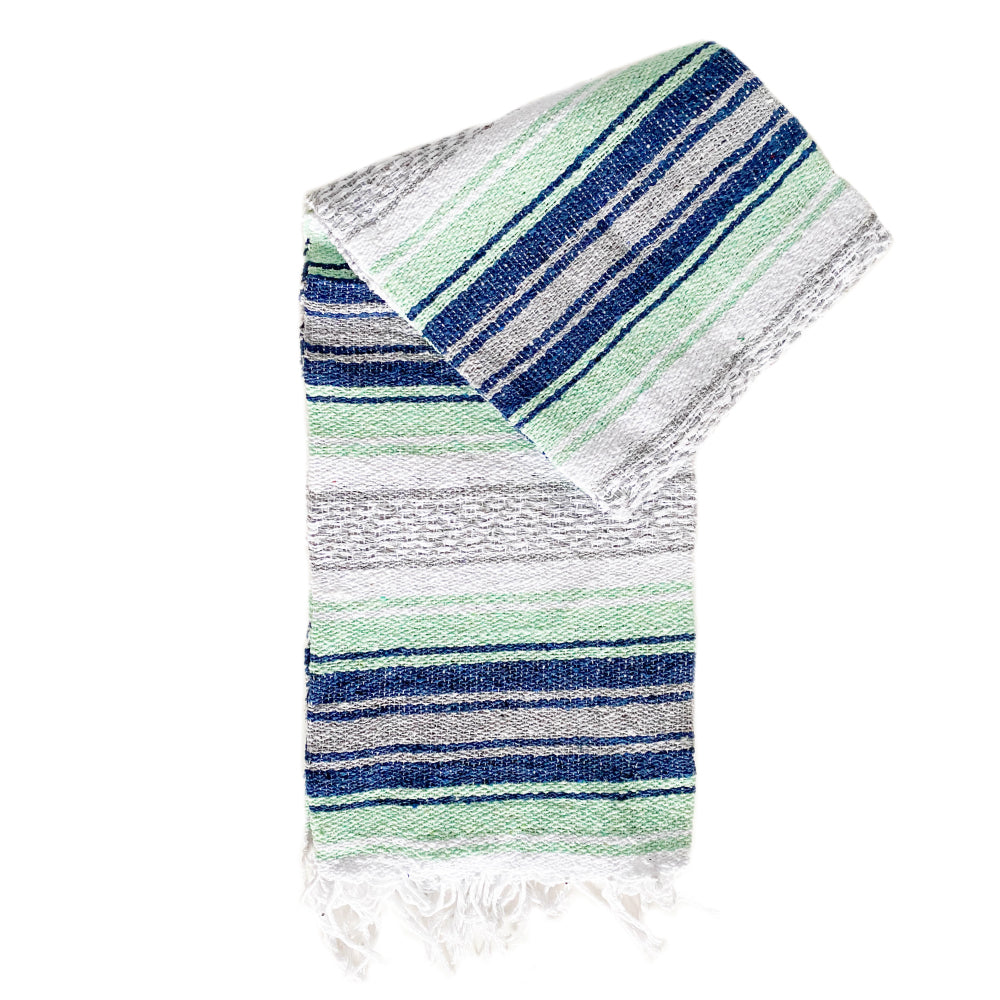 Small Falsa Blanket - Pastel Mint & Navy