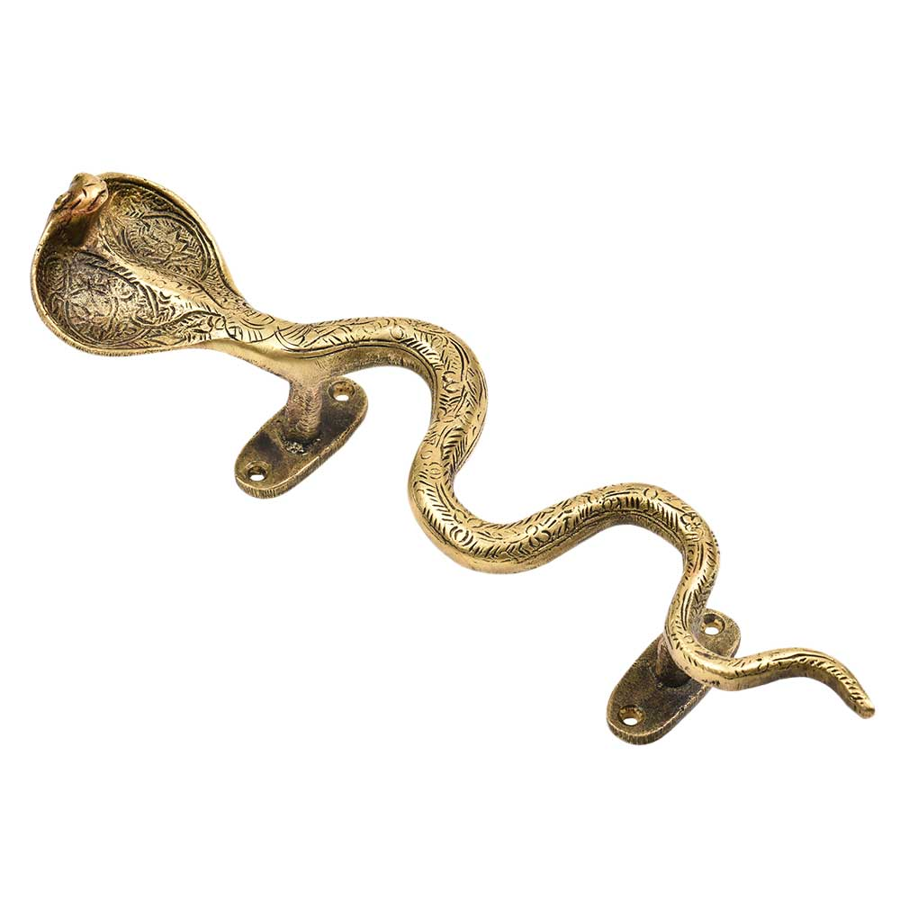 Large Brass Snake Handle