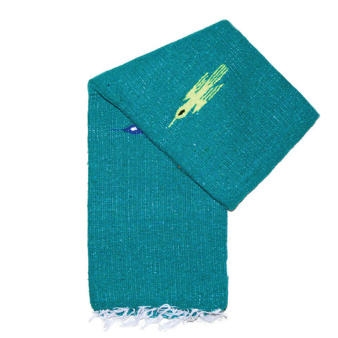 Small Falsa Blanket - Salmon & Teal