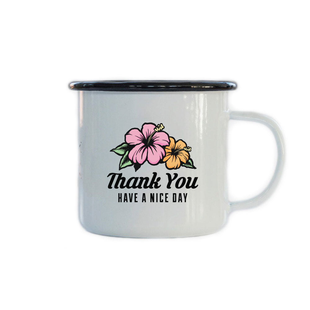 Thank You Enamel Mug