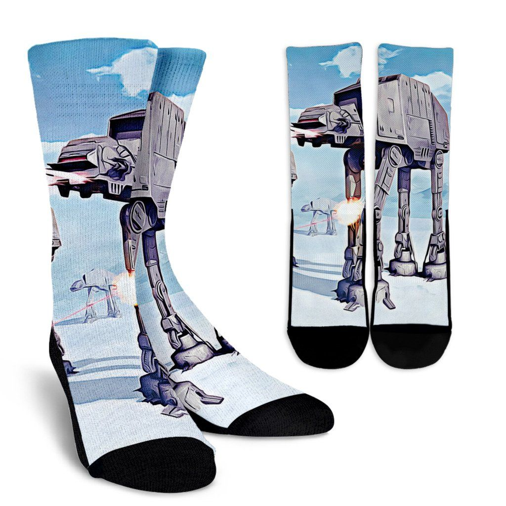 Star Wars Battle of the Hoth Crew Socks - Totally Awesome Retro