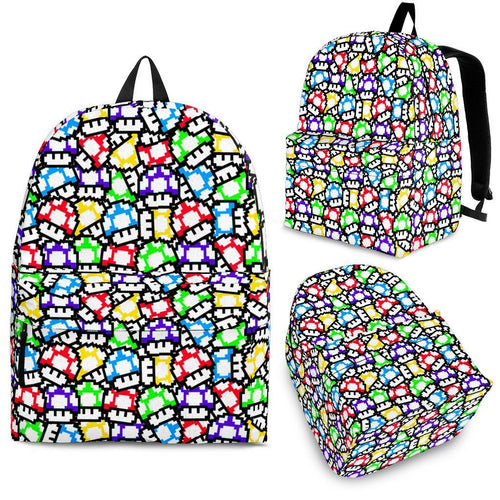 Mario 5 bit Mushrooms Backpack