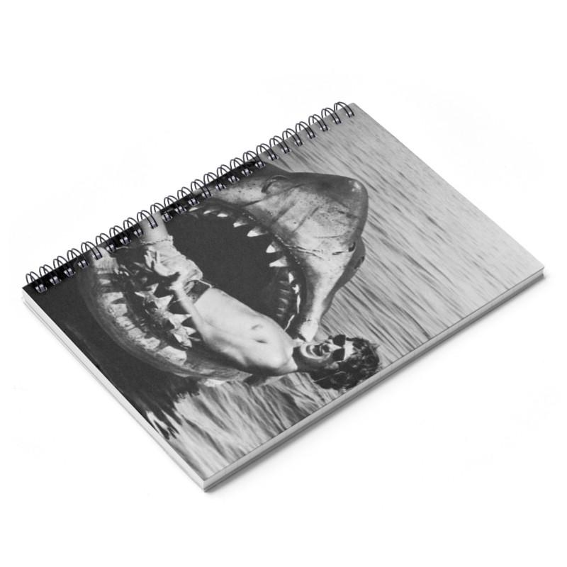 Jaws & Spielberg Ruled Notebook