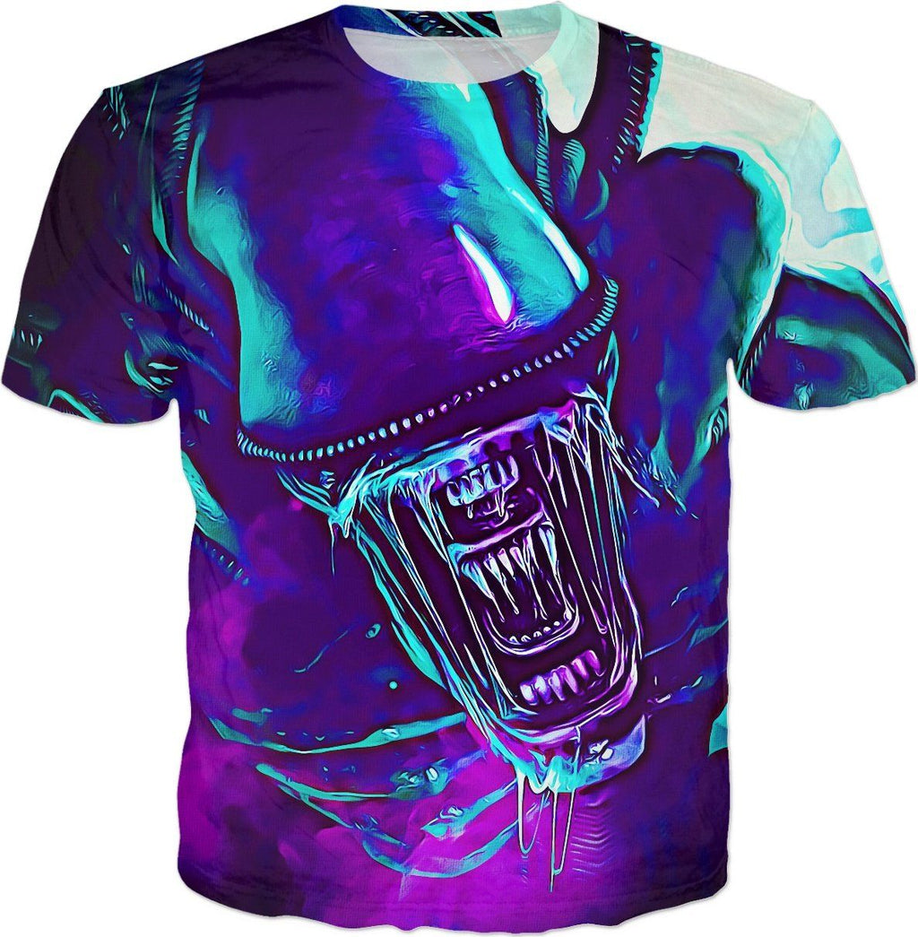 Alien All Over Tee - Totally Awesome Retro