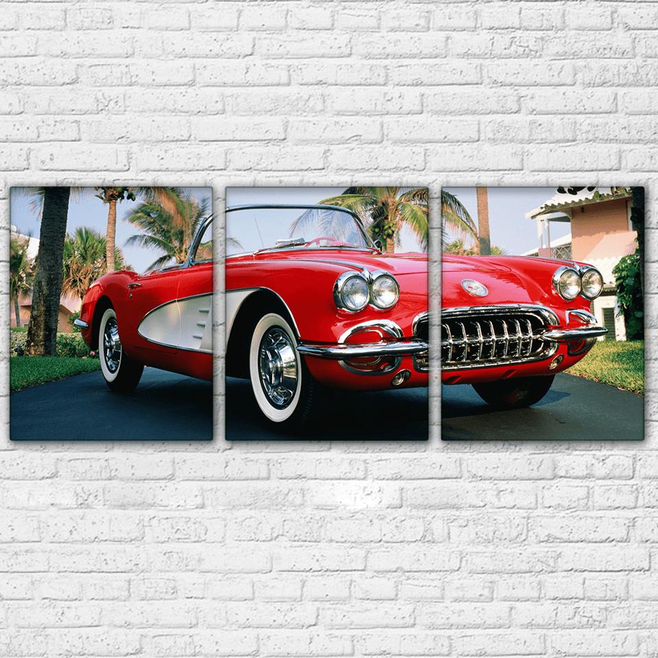 1958 Corvette 3 Piece Canvas Set