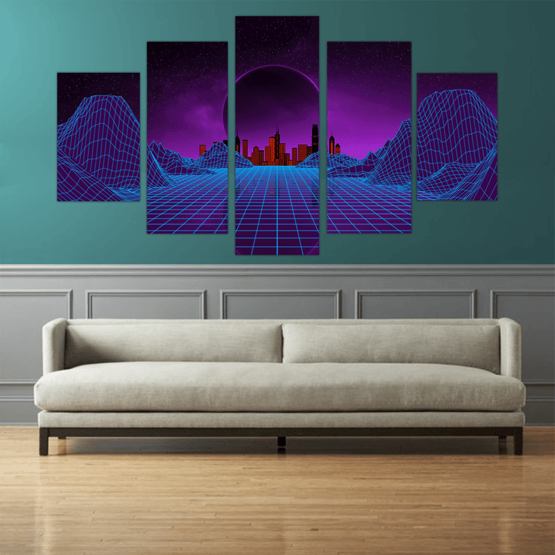80's Mountain 5pc Canvas